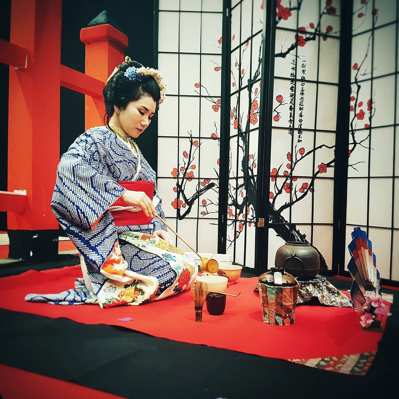 Japan Japanese Culture Japan Photography Japanese Traditional Japanese Style Japanese  Domestic Life Traditional Culture Tradition Traditional Clothing Ceremony Of Tea Red The Power Of Colours Women Who Inspire You Woman Portrait Women Of EyeEm Woman Power Indoors  EyeEm New Here Week On Eyeem Geisha Women Around The World