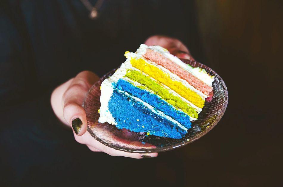 Beautiful stock photos of rainbow, Cake, Dessert, Focus On Foreground, Food