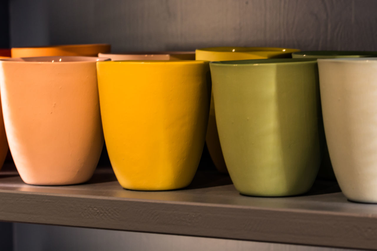 yellow, in a row, indoors, no people, table, food and drink, focus on foreground, close-up, freshness, healthy eating, food, day
