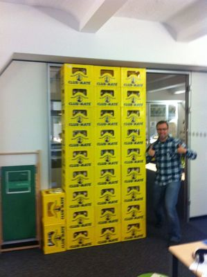 Club-Mate Wall at SinnerSchrader Mobile GmbH by Eli-Jean Leyssens