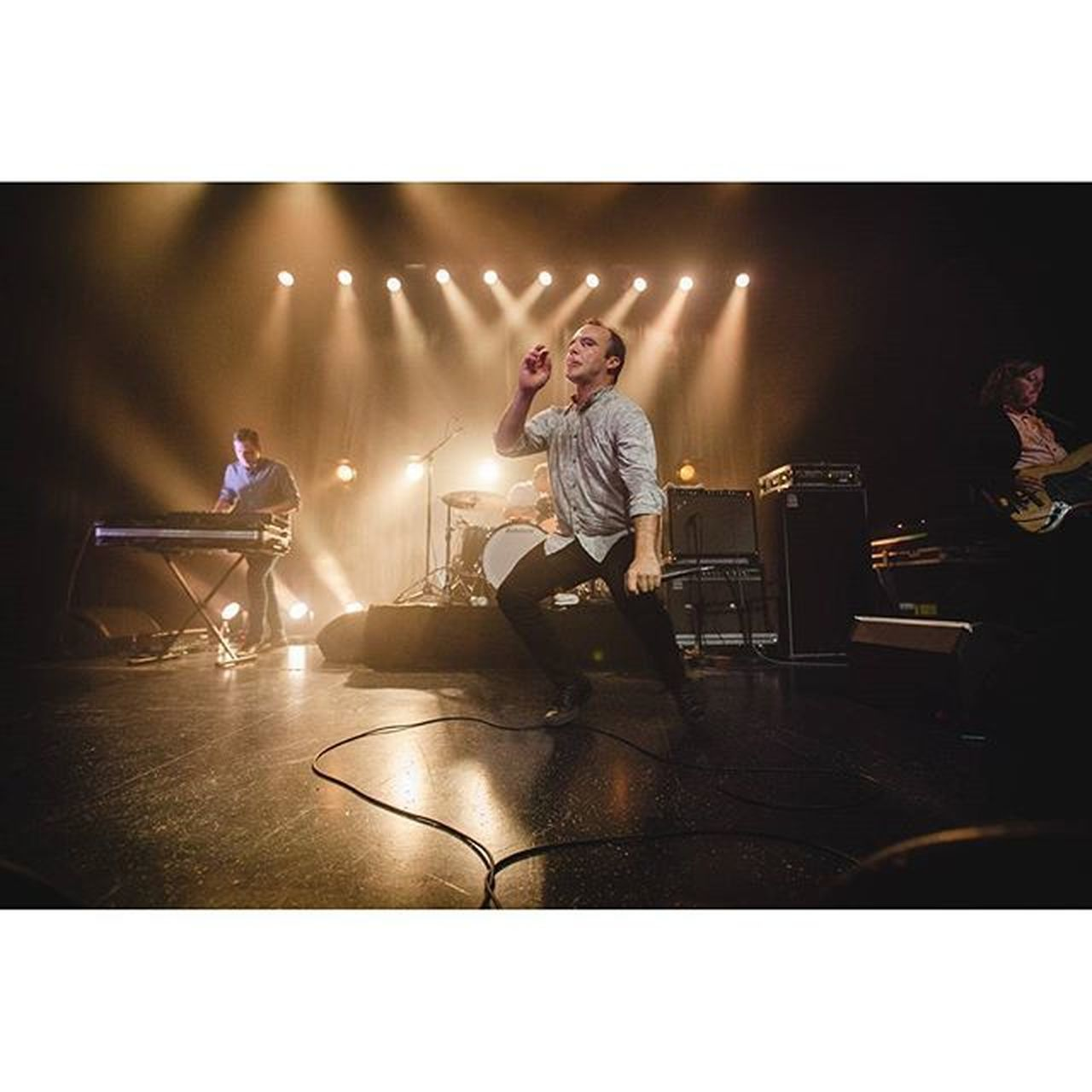 This photo of Future Islands reminds me that I need to start practising Karate again. @future_islands live at @vegacph Samueltherring FutureIslands Concert Musicphotography Vega