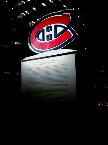 No People Night Montréal Canadian Hockey Montreal Canadians Bell Center Habs Winter
