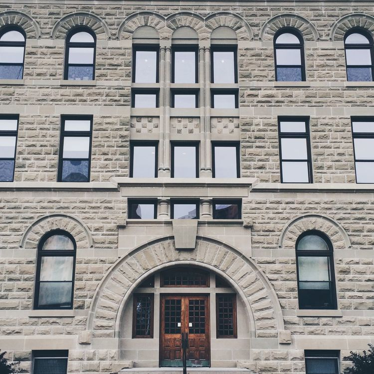 Wesley Hall at the University of Winnipeg Symmetrical Symmetry Architecture Streetphotography