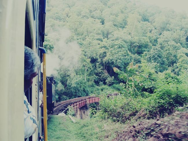 The Following Original Experiences Train passing through a bridge in the valley...Location :Ooty ,India On The Way