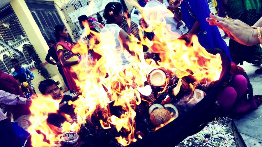 Pastel Power agni dev ( fire ) holy part of hindu culture.... Taking Photos