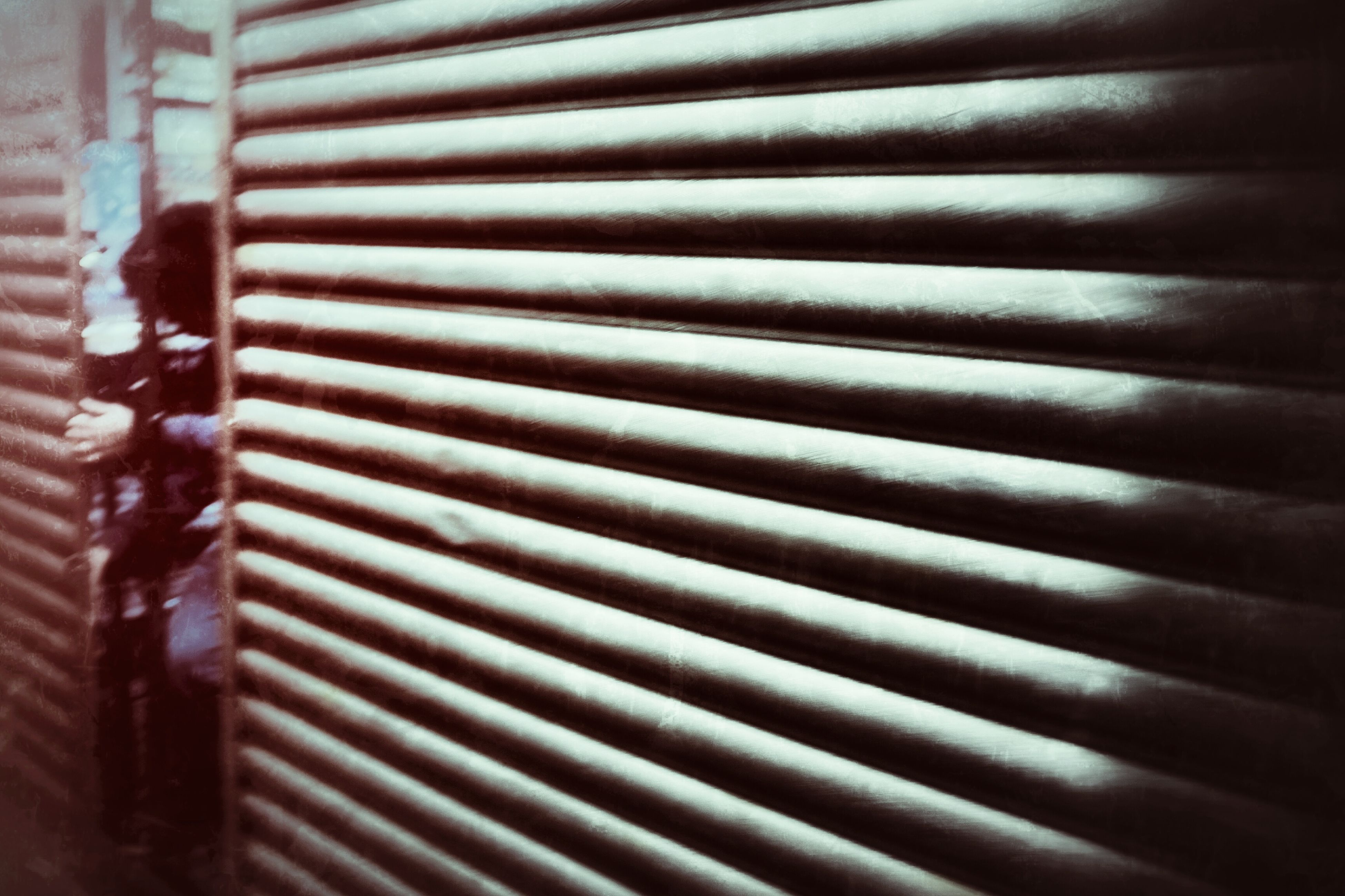 pattern, indoors, full frame, backgrounds, wall - building feature, textured, close-up, metal, built structure, design, architecture, protection, window, wall, safety, closed, wood - material, shadow, metallic, repetition