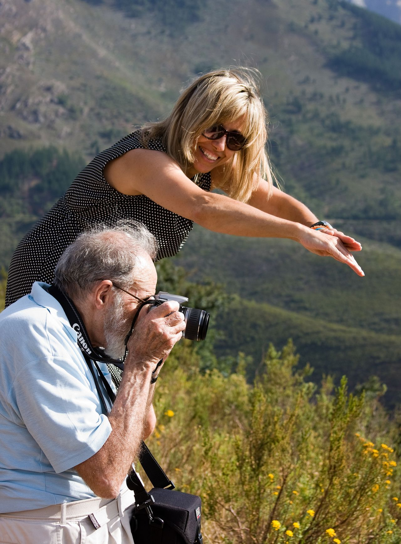 The Portraitist - Two For The Price Of One ~ Adult Adults Only Adventure Buddies Adventures Blond Hair Casual Clothing Never Too Old  Father And Daughter Fatherhood Moments Happy Happy Time Helping Hand Men Mountain Nature Outdoors Senior Adult Photographer In The Shot Portraitist Real People Sharing  Standing The Portraitist - 2017 EyeEm Awards Travel Companion Two People