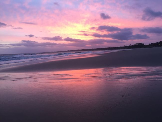 Sunset Relaxing Enjoying Life Beach Atlantida