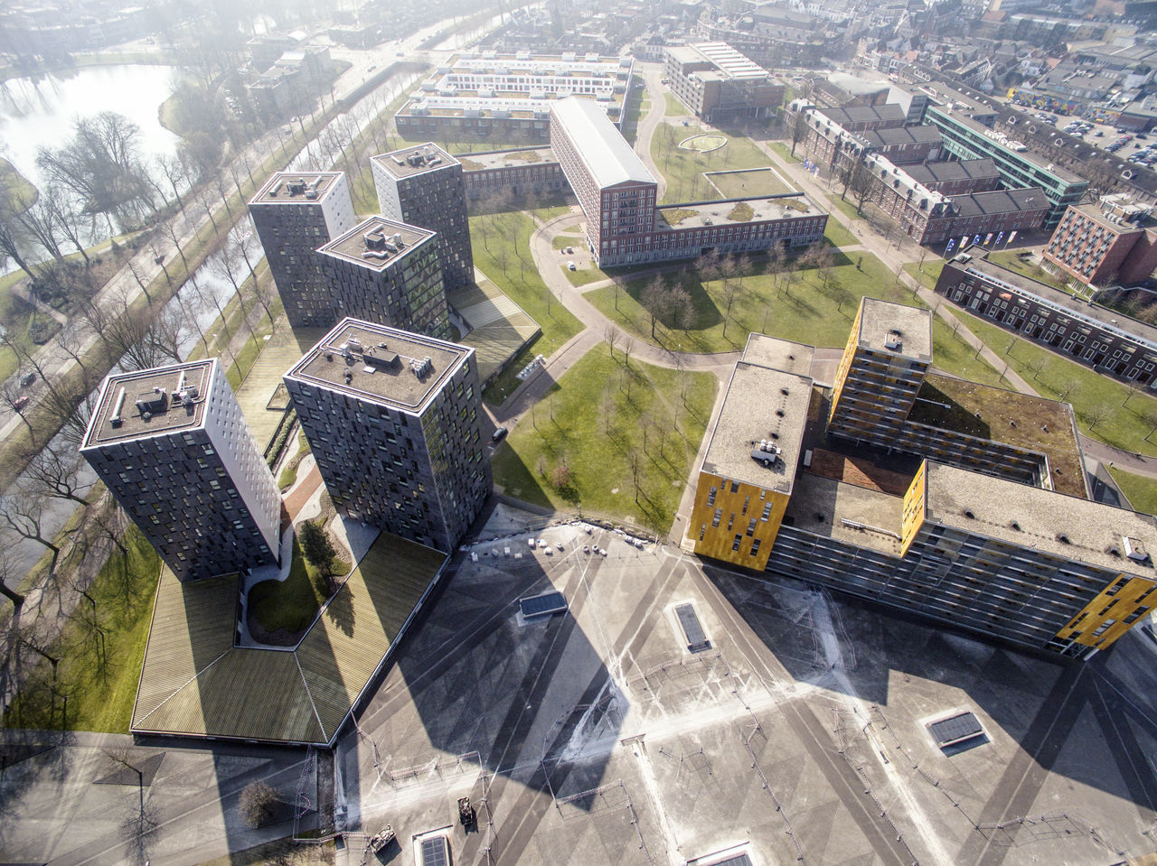 Aerial View Architecture Breda Building Exterior Built Structure Chassé Park Cityscape High Angle View Rem Koolhaas Residential Building