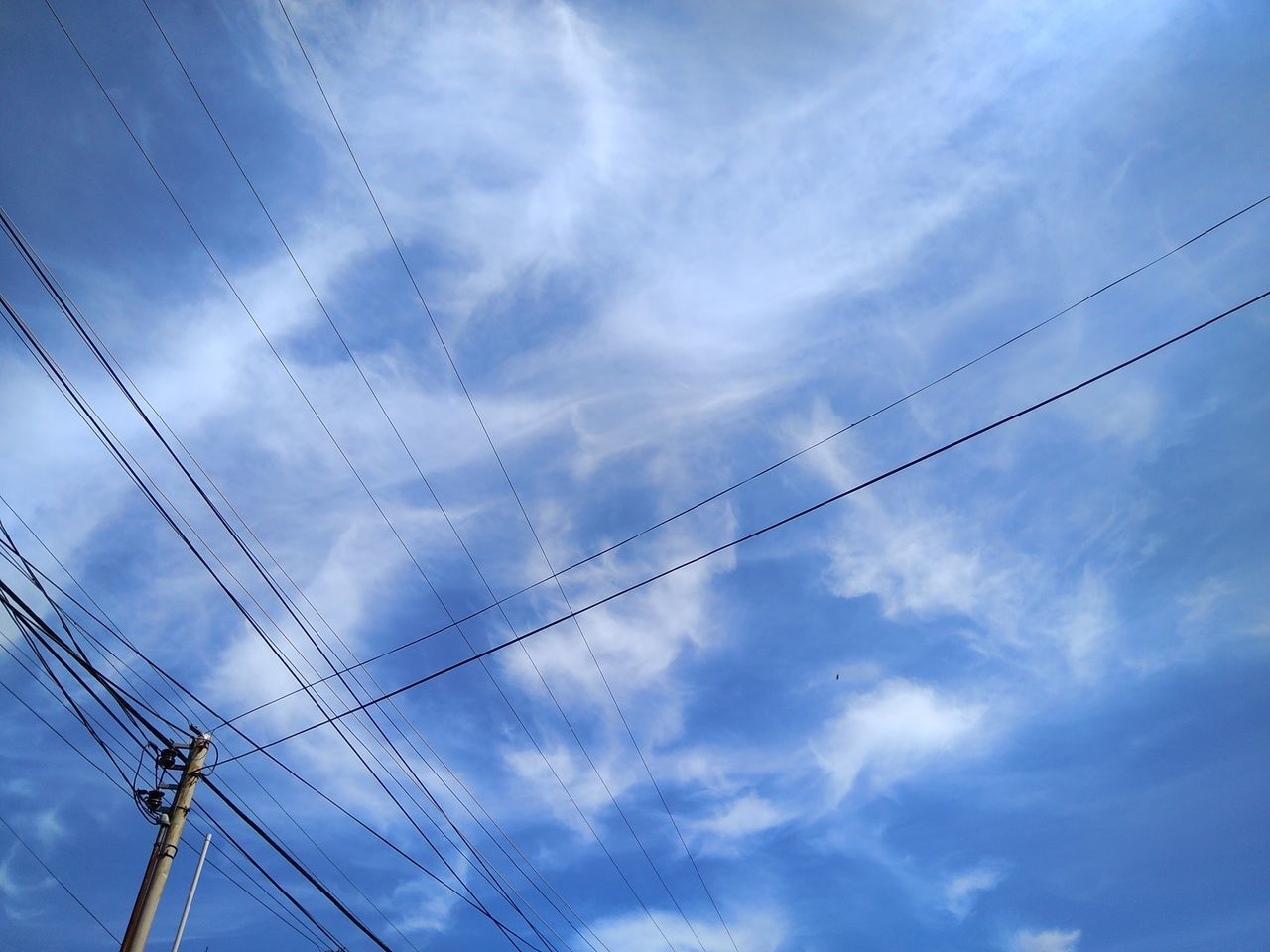 Blue Sky - Bluesky Cloud Wires In The Sky Mactan Island Skylines