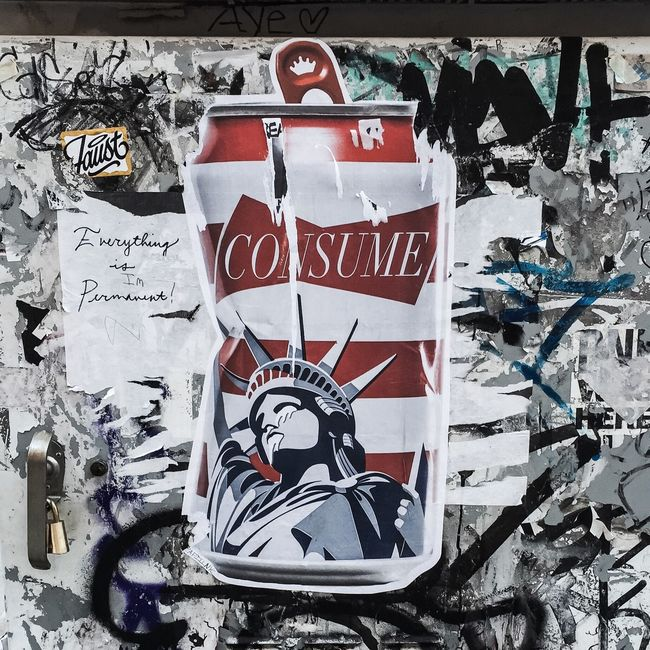 #consume #liberty #streetart #LES #manhattan #nyc #spring2016 #timyoungiphoneography