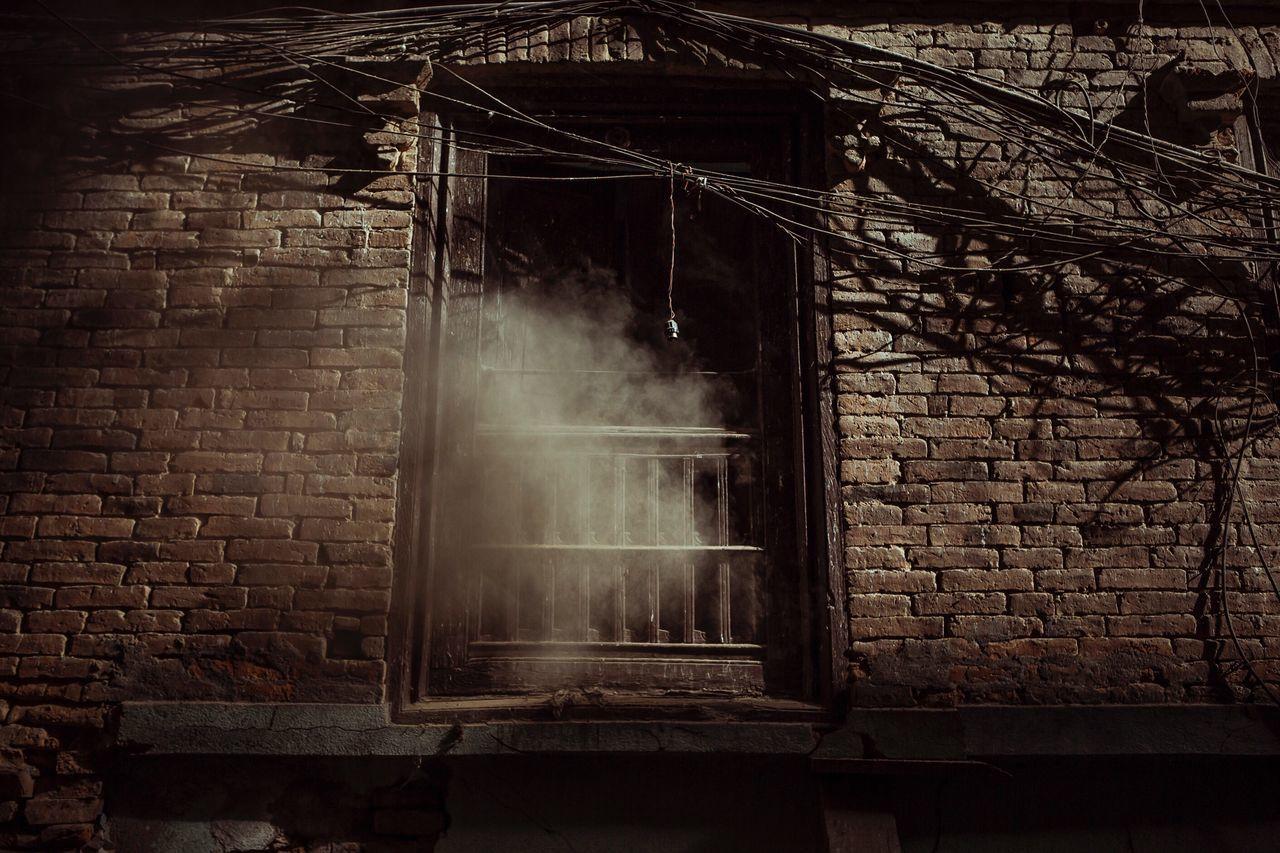 Nepal Kathmandu Dust Window Dusty Old City Old Buildings Brick Wall No People Building Exterior Outdoors Wall