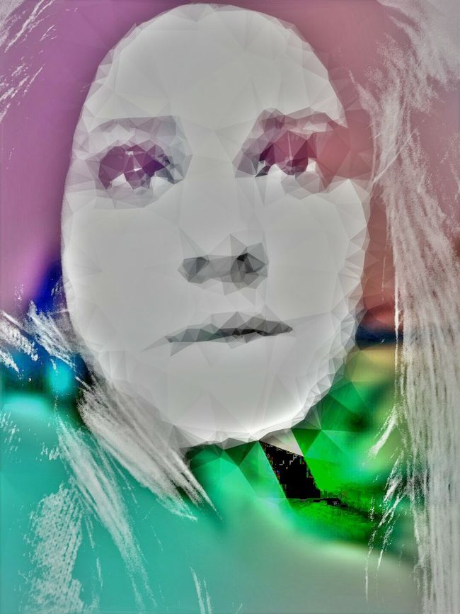 Selfportrait Distorted Faces Feelingblue Hope Triangles Colors