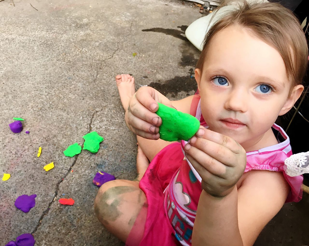 Playdough and Painting Childhood Innocence Cute Girls Playful Person Portrait Playing Togetherness Creativity Creating Family Matters Family Time Granddaughter Inspire Girl Power Getting Dirty Playtime Playdough Non-toxic Bodypaint Kids Of EyeEm Colorful Outside Daytime