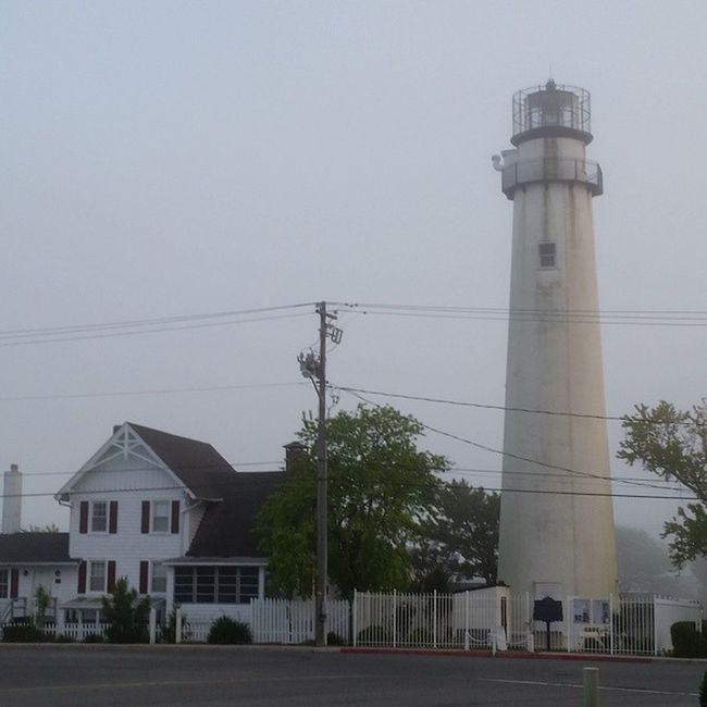 This morning as Bessie, theware beagle, & I walked past the lighthouse... Oceancitycool FenwickIsland Delaware Lighthouse history historic