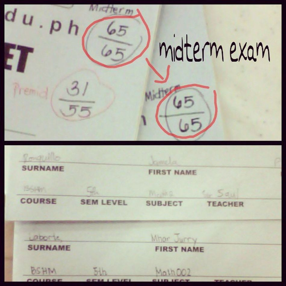 well its not just me alone who got the perfect score ... also my dear :-* (job well done) Jamelaronquillo Mharjurrylaborte