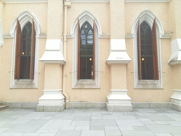 Building Exterior Architecture Built Structure Windows Church Church Architecture Yellow - Central Hong Kong