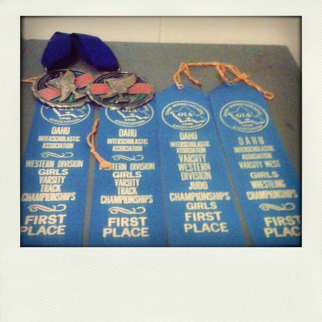first place in three different sports. Track Shot&Discuss Judo Wrestling Honord