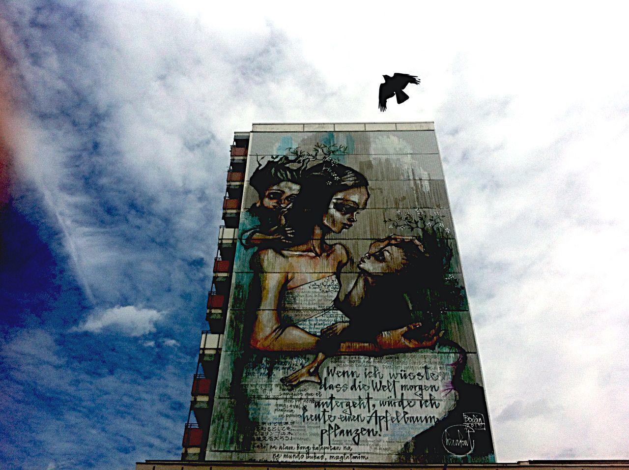 Blue Feelings Clouds And Sky Birds In Flight Shared Love Streetphotography My Fuckin Berlin