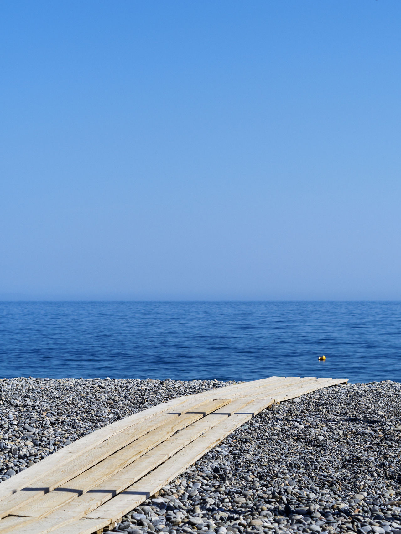 Sougia beach on the south side of Crete Beach Blue Holiday Horizon Over Water Minimalism Pebble Beach Sea Sky Summer Tranquil Scene Tranquility Vacations Walkway Water
