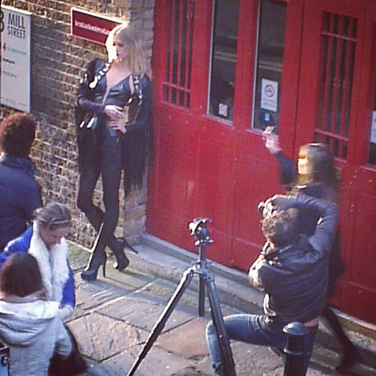 Scenes outside the office window this afternoon. As you can imagine, not much work got done! Fashion Model London