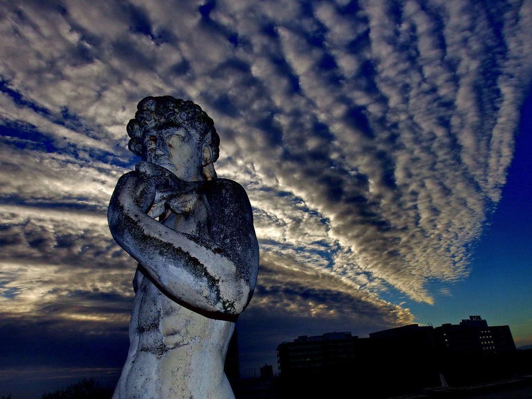 Cloud Cloud - Sky Cloudy No People Outdoors Sculpture Sky Statue Technoseum