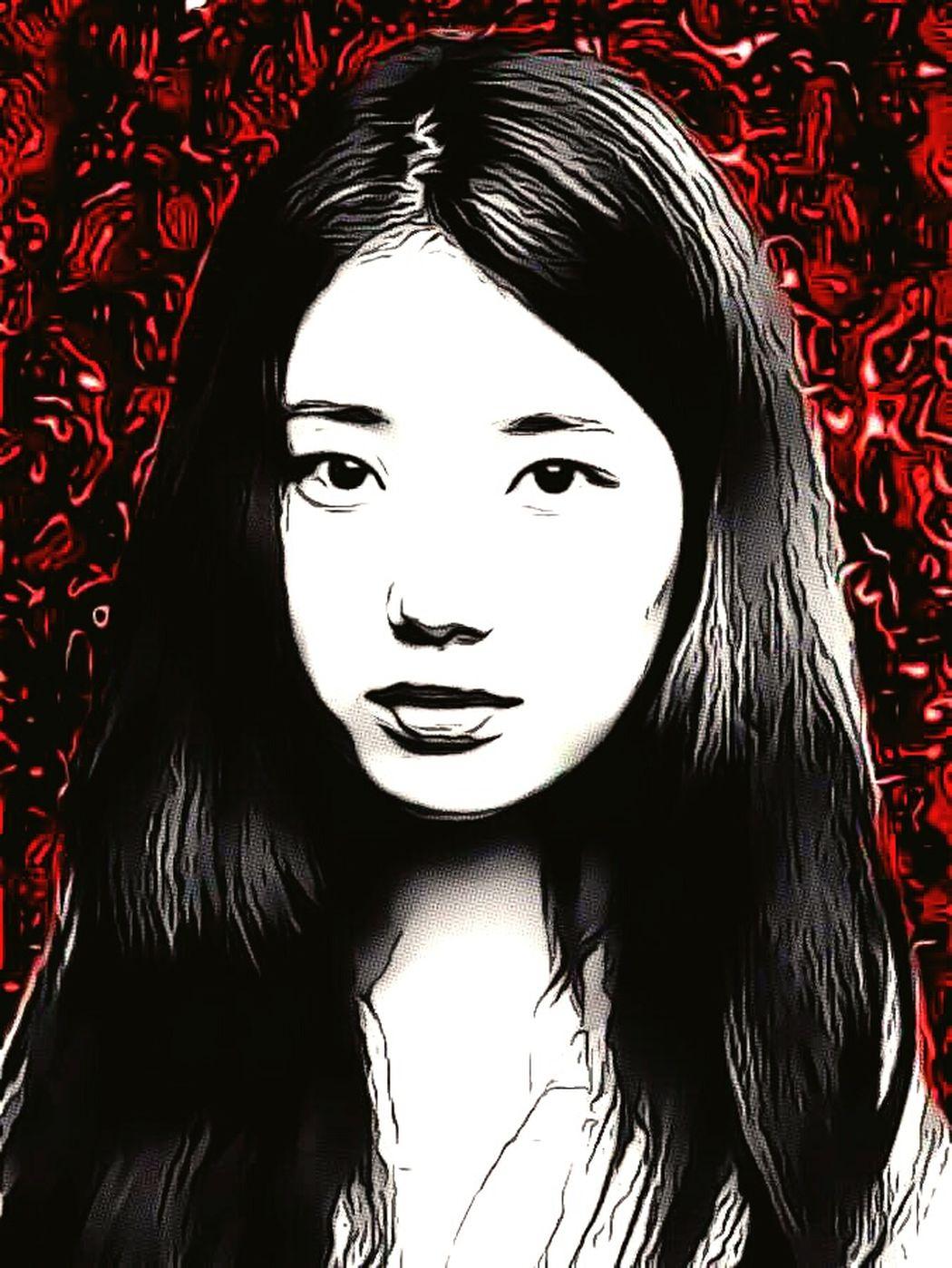 Portrait Long Hair Red Only Women Young Women Close-up Headshot Adult Women MyEdit Edited Edit One Person Gore Eeoguro Korea Korean Korean Woman