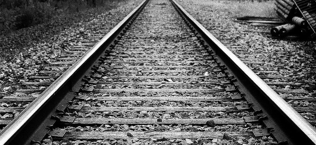 Railroad Track Railroad Transportation Ilford HP5 Plus Pushed Film +2 Nikon F3 50mm 1.4 Film Film Photography Contrasty Contrast