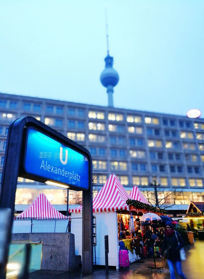 City Night Travel Tourism Illuminated Building Exterior Travel Destinations Cityscape Outdoors No People Nightlife Tower Architecture Signs Underground Station  Decorations Walking Around Alexanderplatz Metro Christmas Markets Holidays Fairy Lights Christmas Ornament Postcard Vacations