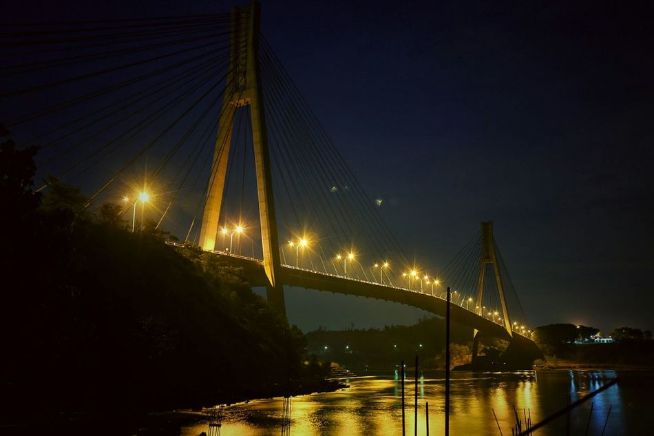 night in Barelang Bridge In Batam Island INDONESIA