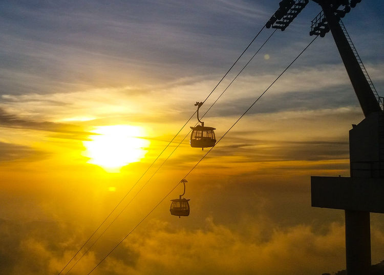 Sunset Cloud - Sky Sky Sun Outdoors No People Backgrounds Nature Day Skyway Travel Destinations Cablecars EyeEmNewHere