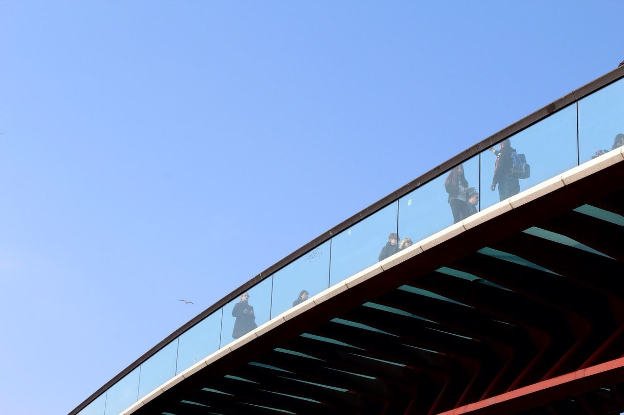 copy space, clear sky, low angle view, blue, outdoors, day, no people, built structure, architecture, nature, sky