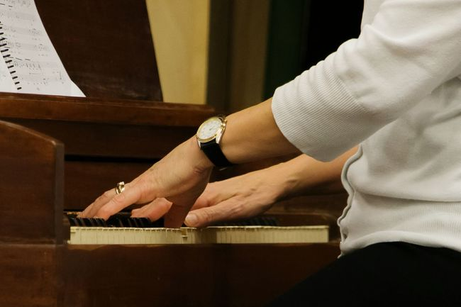 Playing The Piano, Music, Hands, Woman Playing The Piano Two Is Better Than One