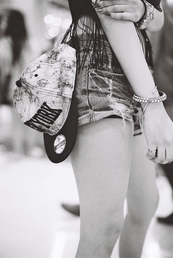 Real Photography Olympus Om-2n XP2 Shootfilm Black & White Gorgeous New York Short Pants Shorts Film