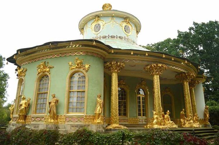 Architecture Gold Colored History No People Travel Destinations Outdoors Sky Day Tree Sansoucci Chinese House Potsdam Park Sanssouci Potsdam