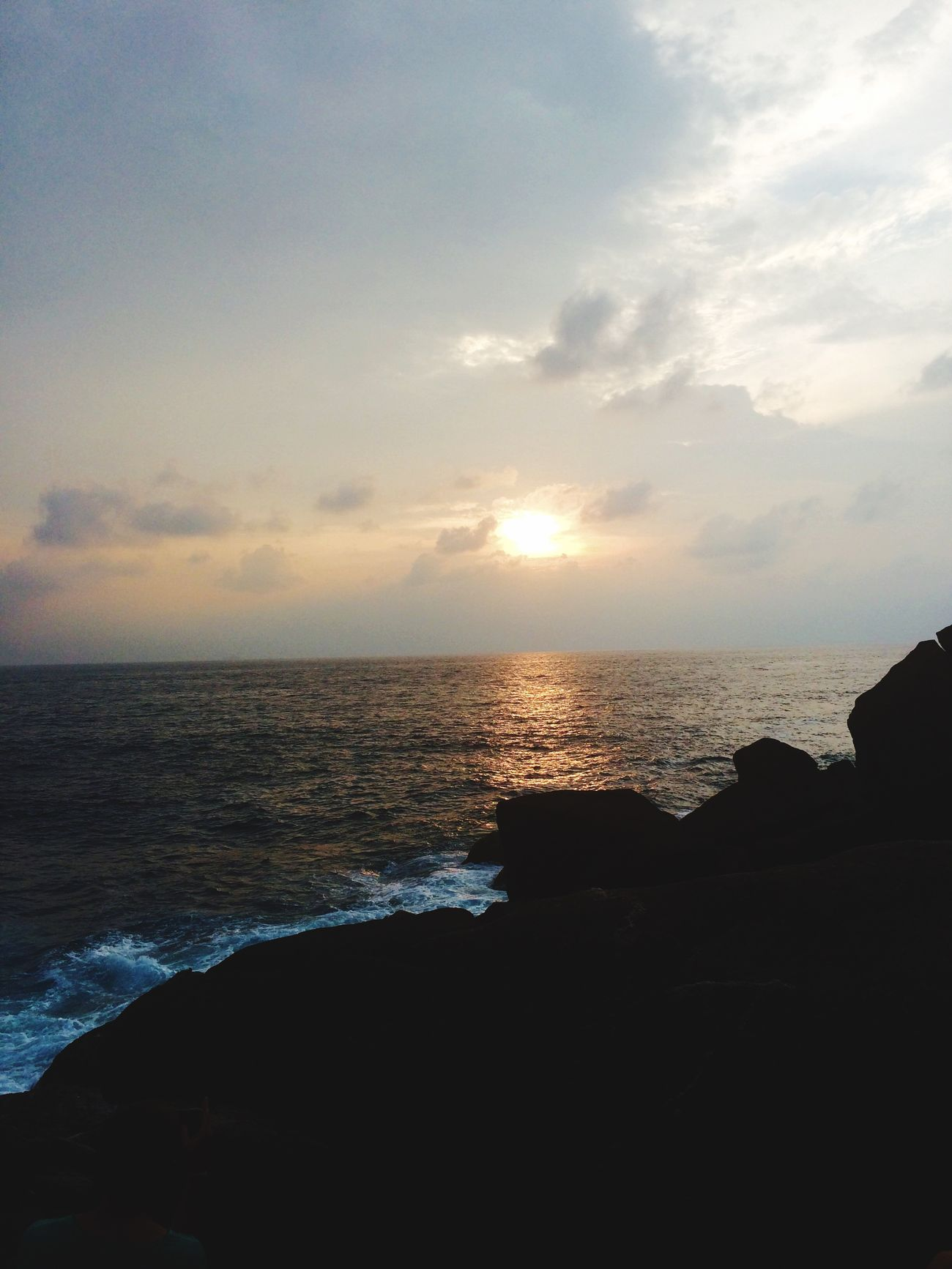 Sunset Indian Ocean Unawatuna Sunset Point