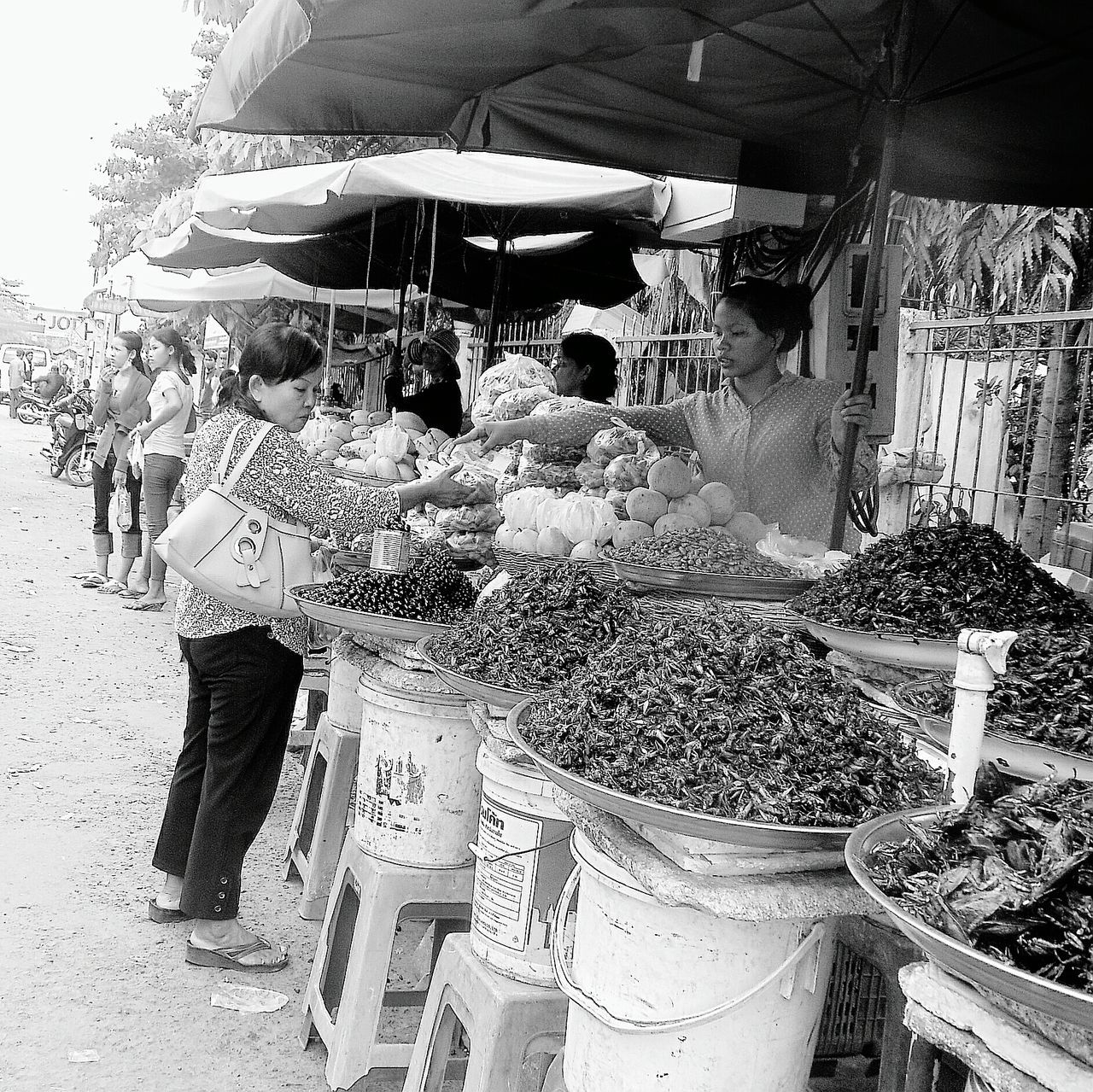 Vietnamese markets Real People Outdoors EyeEm Best Shots - Black + White Onthestreet Market Vietnam Adventure Travel Culinaryadventures Trynewthings Travelphotography Explore Locals