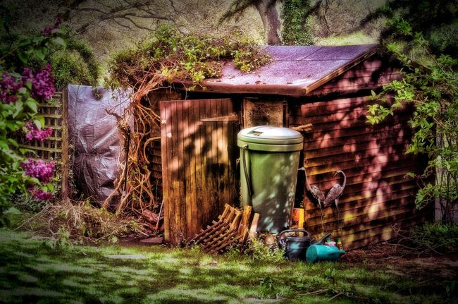 The Old Shed Garden Shed Old HDR HDR Collection Outdoors Outdoor Photography Nature Gardening Tools
