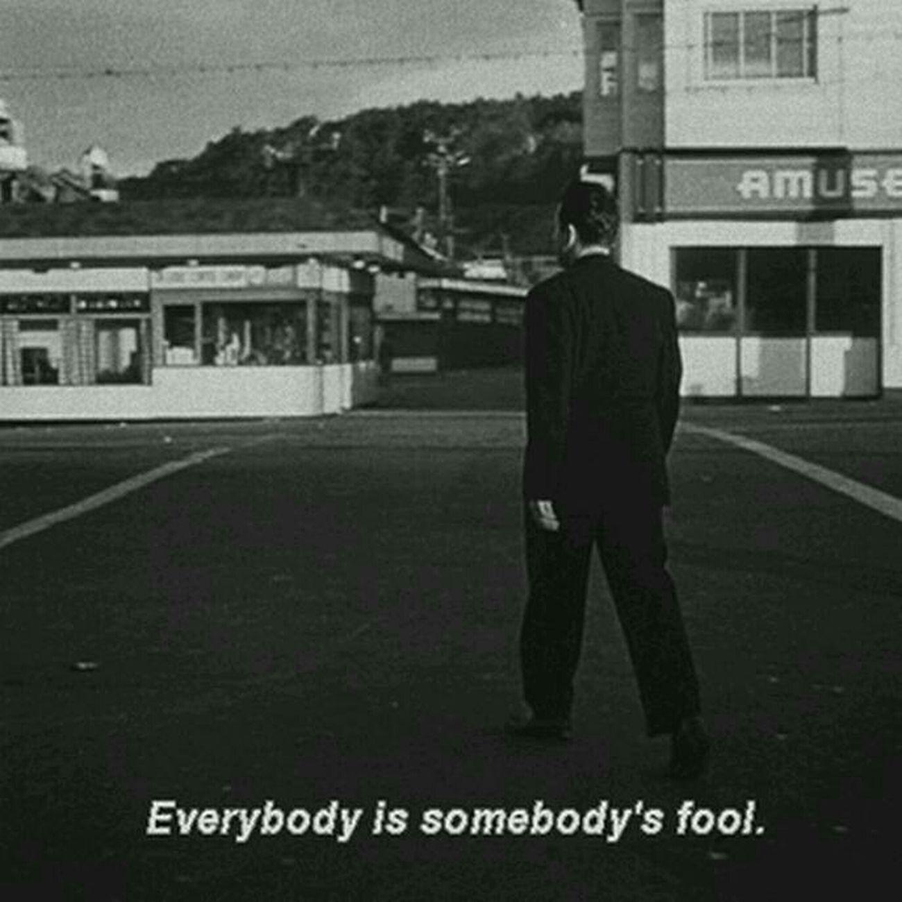 Foolish Love Black & White Quote