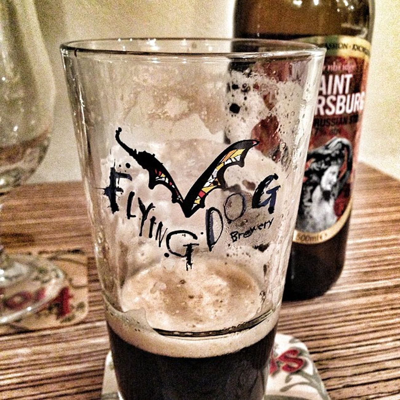 Pure il bicchiere era carino :) Birrarium Saintpetersburg Stout