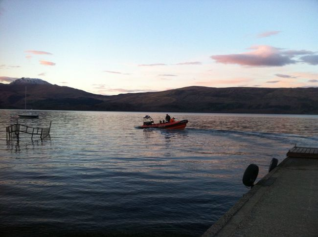 Cloudscape Lifeboat Water Dusk Pink Sky Calm Lake Rural Scene Outdoors Boat LochLomond Tranquility Mode Of Transport Beauty In Nature Horizon Over Land Tranquil Scene Sunset Beautiful Nature