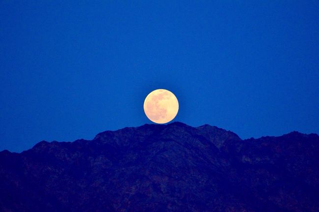 Lever de lune. Eilat Lunes Eilat