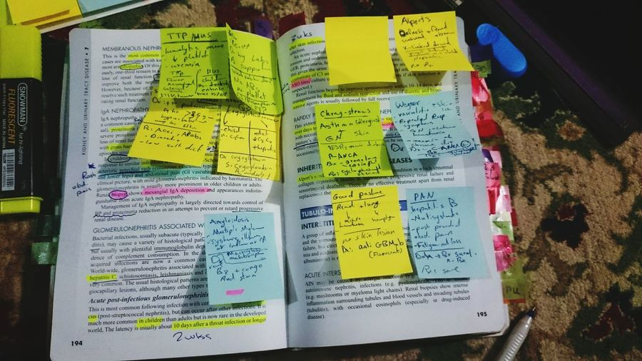 Studying just one subject Be LIKE!!!... Stickynotes Medicine Hard Exams Davidson Wish Me Luck Everyday Education