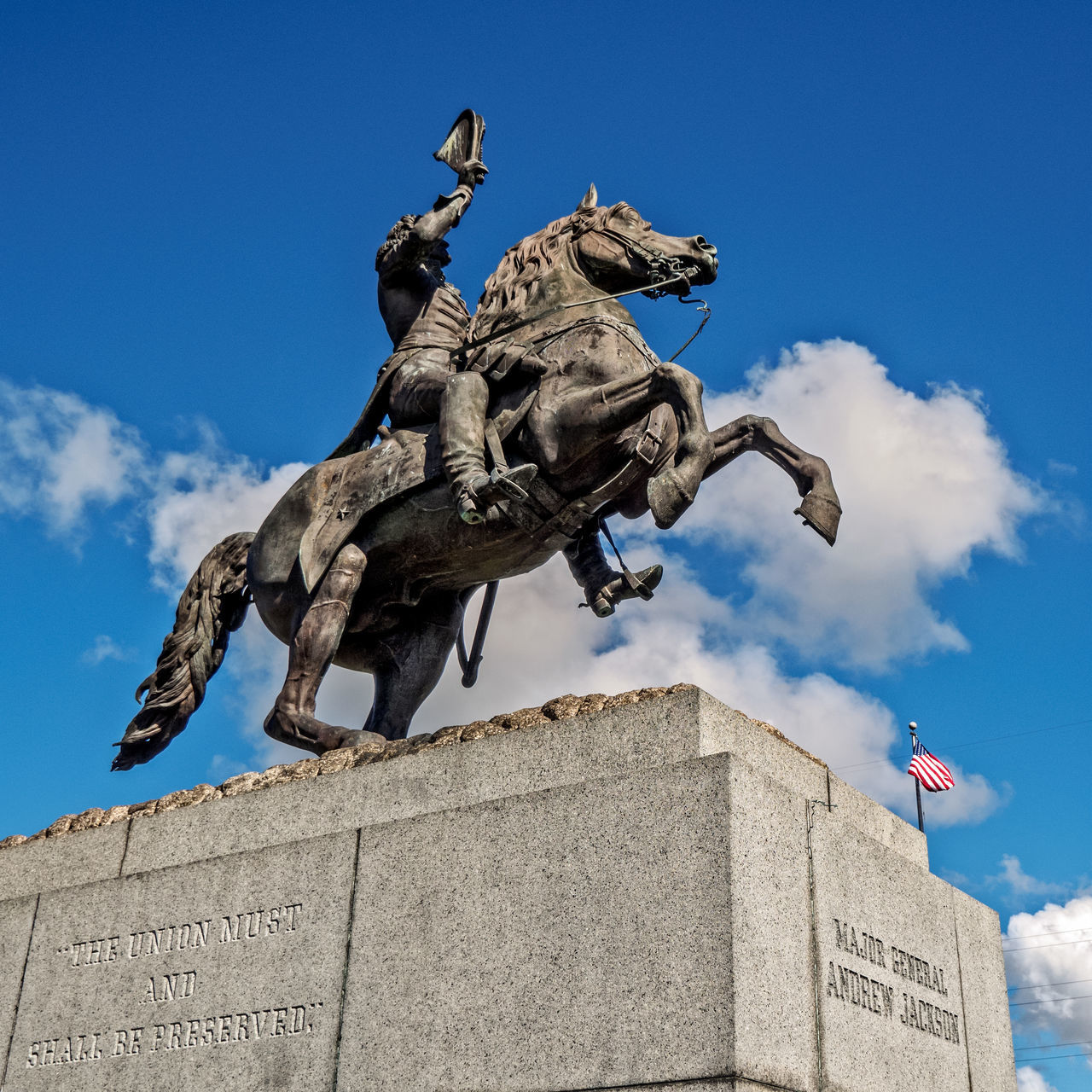 Statue of Andrew Jackson on a Horse in Jackson Square The French Quarter New Orleans 2 Andrew Jackson Architecture Blue Bronze - Alloy Building Exterior City Day Flame French Quarter History Horse Jackson Square Monument New No People Outdoors Representing Sculpture Sky Statue Travel