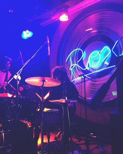All The Neon Lights Nightlife Drums Party Music Drummer Roxy Ringojets