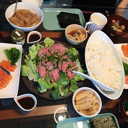 手巻き寿司の日 Lunch Lunch Time! Yummy Table Roastbeef Cooking