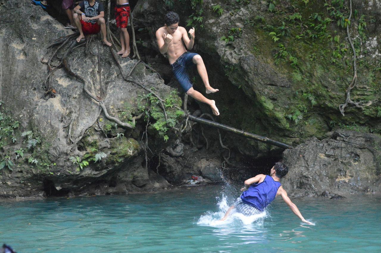 Beautiful stock photos of jagd, water, two people, motion, splashing
