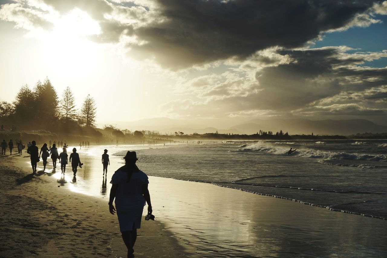 Gold Coast People Outdoors Travel Destinations Water Sky Nature Nature Sand Sea Sunset Sunlight Silhouette Beach