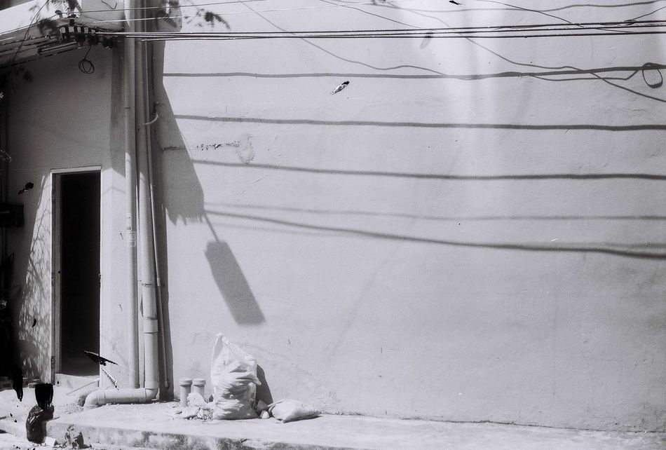 Outdoors Filmisnotdead Built Structure No People Day Architecture Nature Fed5 35mm Camera Shade Shadow Rangefinder Adults Only Wall Fomapan 135