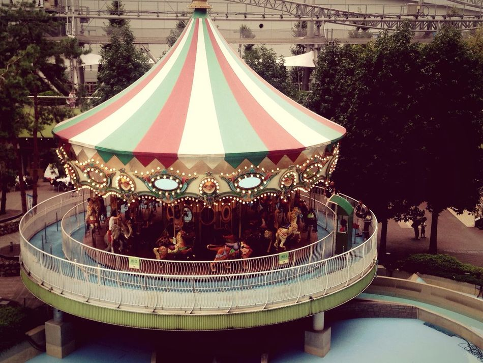 Merry Go Round My Smartphone Life EyeEm Best Shots Tokyo Japan Autumn 2016 Street Photography View From The Window... LaQua Tall - High Urban Skyline City Life Cityscape High Angle View People And Places City City Scape Taking Photos EyeEm